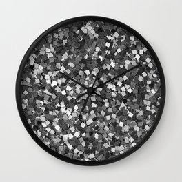 Dazzling Sparkles (Black and White) Wall Clock