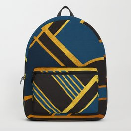 Art Deco New Tomorrow In Blue Backpack