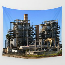Natural Gas Power Plant Wall Tapestry