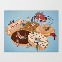 doughnut Canvas Prints featuring Doughnut Selection by Stephen Sharpe