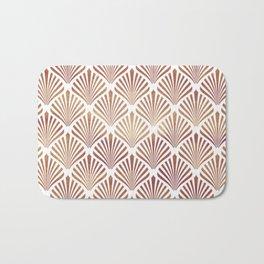 Rose-gold geometric art-deco pattern Bath Mat