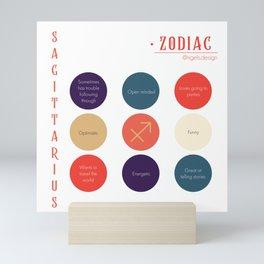 Sagittarius Zodiac Sign Personality Mini Art Print