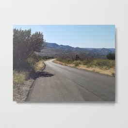 Winding Road from Humboldt Mountain Metal Print
