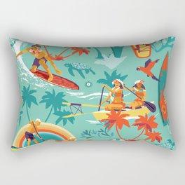 Hawaiian resort Rectangular Pillow