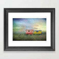 gypsy caravans Framed Art Print