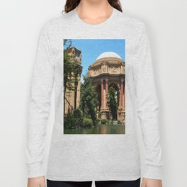View Over The Lagoone To The Palace Of Fine Arts - San Francisco Long Sleeve T-shirt