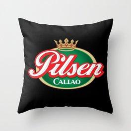Cerveza Pilsen Callao Throw Pillow
