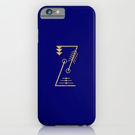 Sacred Geometry Letter Z iPhone Case