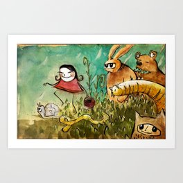 chaperon rouge, Little red riding hood... and co Art Print