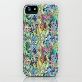 Painted Jungle by Katrina Ward iPhone Case