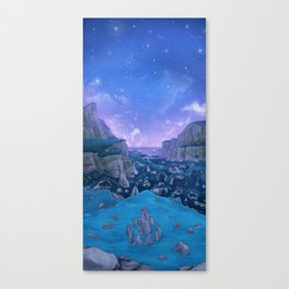 Stone Circle Evening Valley Sky Canvas Print