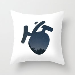 Nightly Heart Throw Pillow