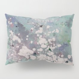 Clouded Mind (Abstract Acrylic White Blotchy Painting) Pillow Sham