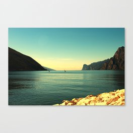 windsurfers in Italy Canvas Print