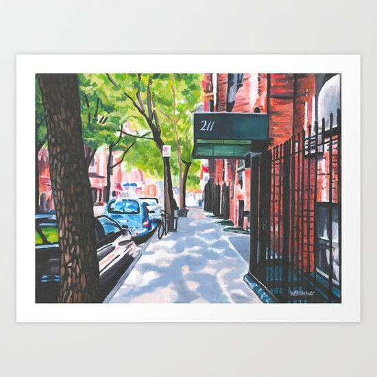 Sunday Morning in Brooklyn, NY Art Print