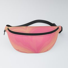 Abstract Tropical Pastel Rainbow Heart Pattern | Valentine's Day Fanny Pack
