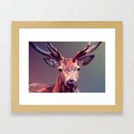 Deer geometric new Framed Art Print