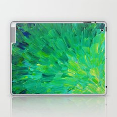 SEA SCALES in GREEN - Bright Green Ocean Waves Beach Mermaid Fins Scales Abstract Acrylic Painting Laptop & iPad Skin
