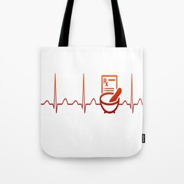 PHARMACIST HEARTBEAT Tote Bag