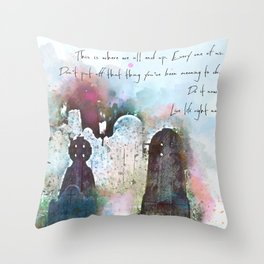 This is where we all end up. Throw Pillow