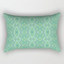 Green and Blue Composition Watercolor Rectangular Pillow