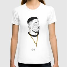 Kendrick Lamar MEDIUM Womens Fitted Tee White