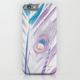 Pastel Peacock iPhone Case