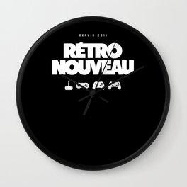 Rétro Nouveau (Blanc) Wall Clock