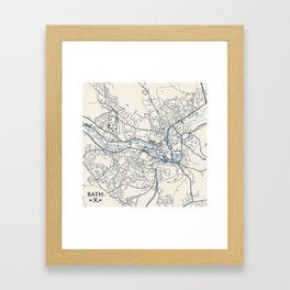 Bath Map Framed Art Print