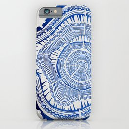 Growth Rings – 65 Years – Navy iPhone Case