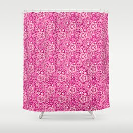 Lace on Pink Shower Curtain