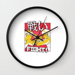 Anime fight with characters Wall Clock