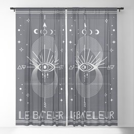 The Magician or Le Bateleur Tarot Sheer Curtain
