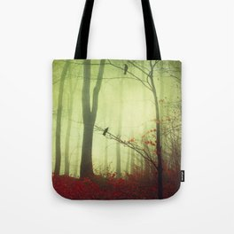 mysteriOns - surreal forest scene Tote Bag