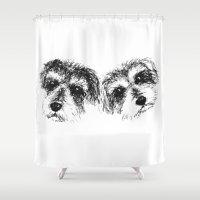 mac Shower Curtains featuring Mac & Ariel by Dara Denney