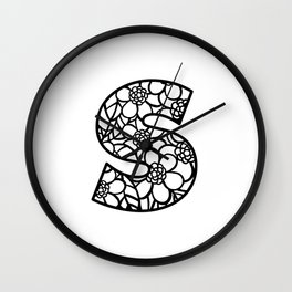 Letter S Wall Clock
