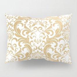 Gold swirls damask #2 Pillow Sham