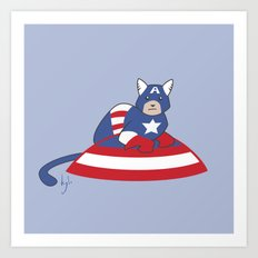 Captain AmeriCAT: The First Catvenger Art Print