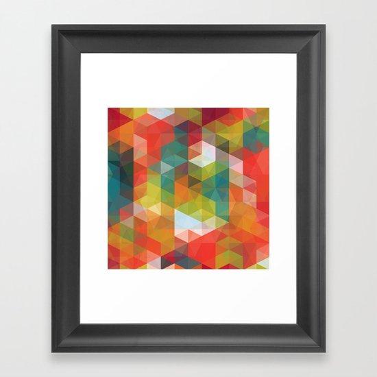 Transparent Cubism Framed Art Print