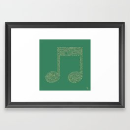 Techno Music Framed Art Print