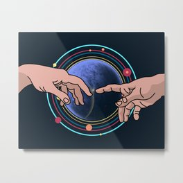 Michelangelo space blue Metal Print