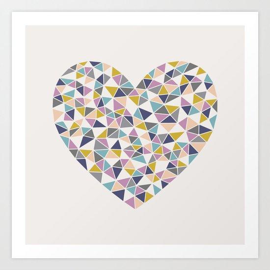Faceted Heart Art Print