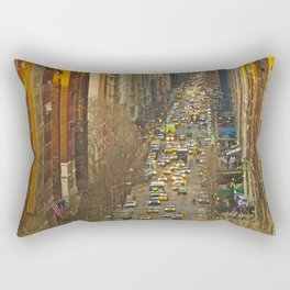 Fifth Avenue NYC from above Rectangular Pillow