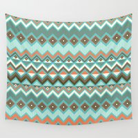 aztec Wall Tapestries featuring Aztec by Priscila Peress