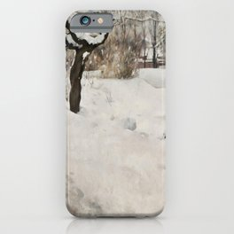Carl Larsson - Open-Air Painter Winter-Motif from Åsögatan 145, Stockholm iPhone Case