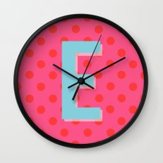 E is for Excellent Wall Clock