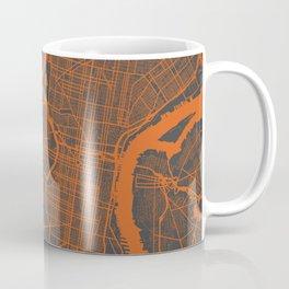 Philadelphia 2 map orange Coffee Mug