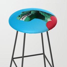 Tiny Arms, Big Heart: Tyrannosaurus Rex with Red Heart Bar Stool