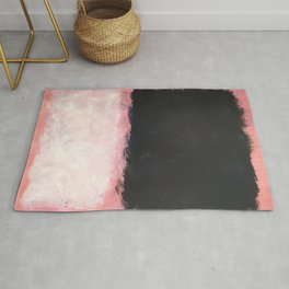 Mark Rothko - Untitled - Pink and Black Artwork Rug