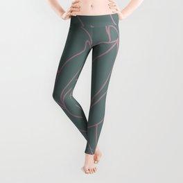 Succulent floral element & patterns VI Leggings